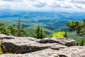 The view from Grandfather Mountain in Western North Carolina near Boone, Linville, and Blowing Rock Wall mural