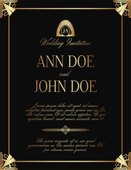 Art Deco Luxury Wedding Invitation