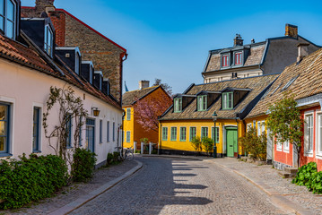 View of a street in central Lund, Sweden