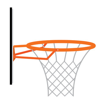 abstract basketball basket