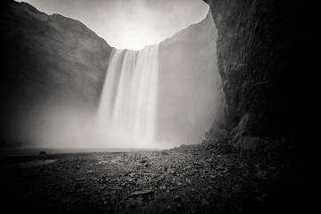 Poster Waterfalls Skogafoss, Iceland