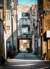 downtown alley in hamilton