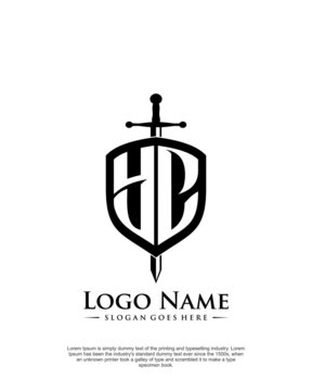 Initial YC letter with shield style logo template vector
