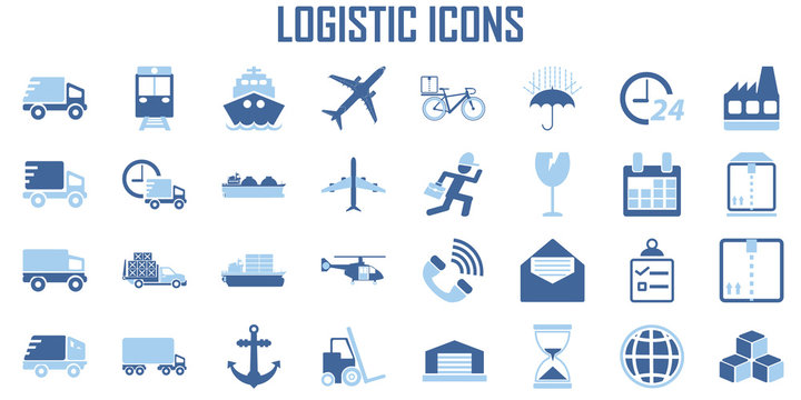 Logistic transport Shipping icon vector.