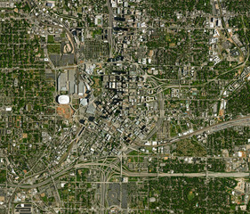Printed kitchen splashbacks Nasa High resolution Satellite image of Atlanta, USA (Isolated imagery of USA. Elements of this image furnished by NASA)