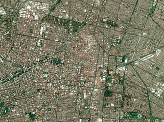 High resolution Satellite image of Mexico City, Mexico (Isolated imagery of Mexico. Elements of this image furnished by NASA)