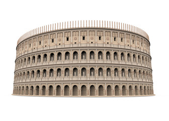 Roman Colosseum Isolated
