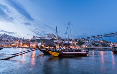 Barcas en Oporto, Portugal
