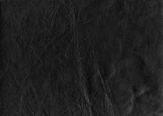 Black leather texture in high resolution.