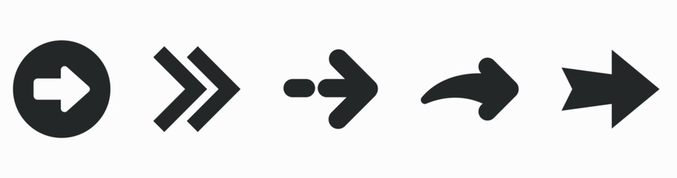 Set of flat arrows. Collection of concept arrows for web design, mobile apps and more.