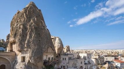 Wall Mural - Cappadocia skyline video time lapse in Goreme, Turkey