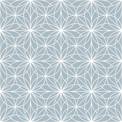 Foto op Canvas Geometrisch Flower geometric pattern. Seamless vector background. White and pink ornament. Ornament for fabric, wallpaper, packaging. Decorative print