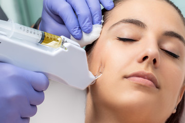Facial mesotherapy with micro needling.