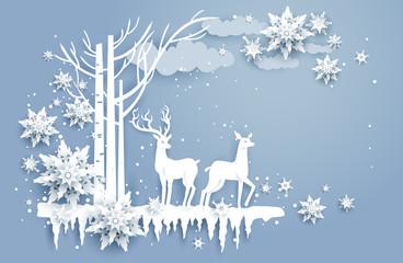 Fotomurales - Natural winter design
