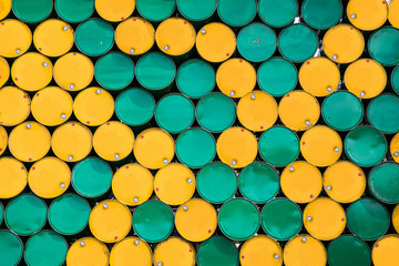 background of oil tanks stacked in a row Wall mural