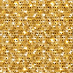Texture dorée transparente du tissu avec des paillettes