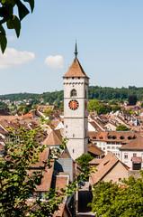 Schaffhausen, St. Johann, Kirche, Altstadt, Stadt, Weinberg, Munot, Sommer, Ostschweiz, Schweiz