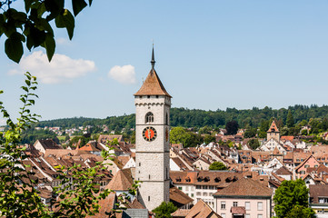 Schaffhausen, St. Johann, Kirche, Altstadt, Weinberg, Munot, Sommer, Ostschweiz, Schweiz