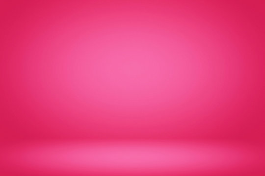 Abstract Gradient Plastic Pink Room Illustration Background, Suitable for Product Presentation and Backdrop.