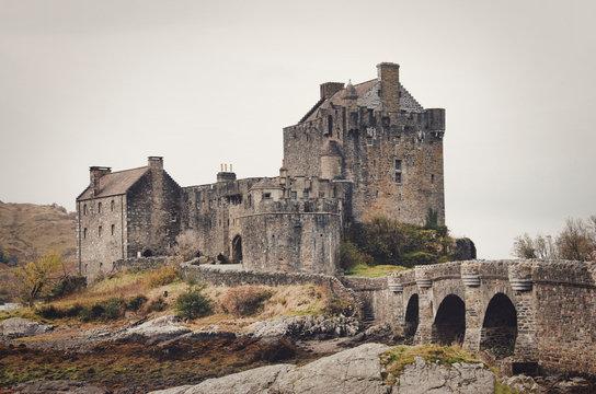 Eilean Donan Castle at Loch Alsh, Scotland, United Kingdom, Europe