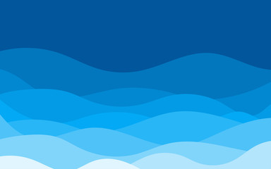 Abstract blue water wave abstract vector background