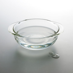 water in glass bowl