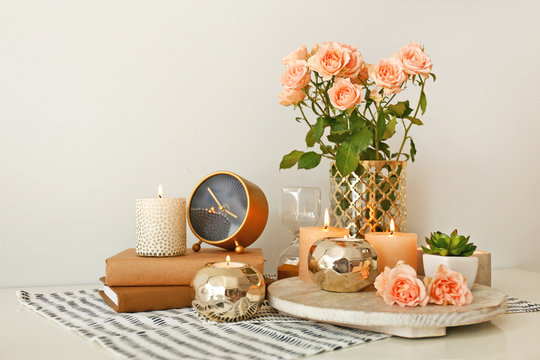 Rose Gold Home Decor Photos Royalty Free Images Graphics Vectors Videos Adobe Stock