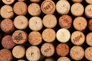 Butt ends of wine corks background - Image