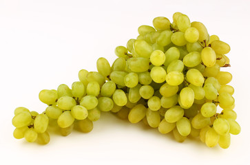Fototapeta White grape Sultana Thompson Seedless on a white background obraz