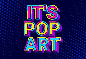 3D Pop Art Text Effect