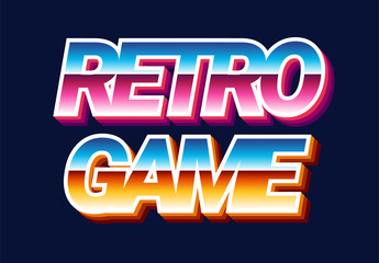 80s Retro Futurism Text Effect