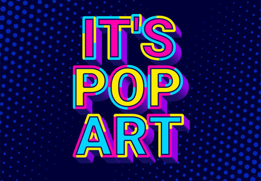 3D Pop Art Text Effect