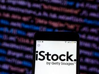 Kiev, Ukraine, December 7, 2018, illustrative editorial. iStock is an online royalty free, international micro stock photography provider  logo seen displayed on smart phone.