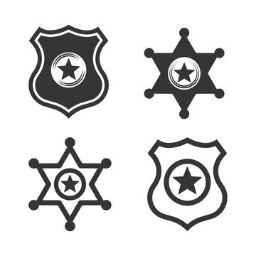 police and sheriff vector badges