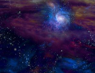 Fototapete - Galactic Space