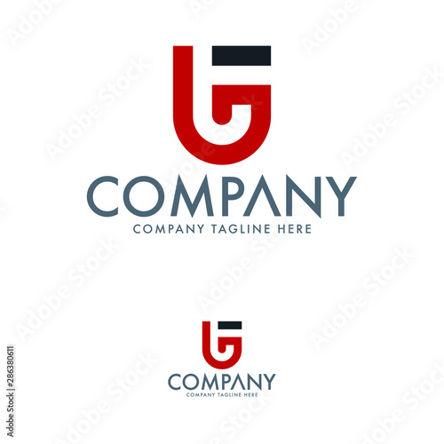 Letter T And Tg Logo Design Template Stock Image And