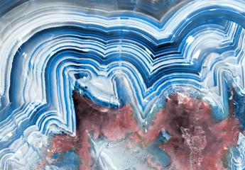 Blue agate chalcedony macro