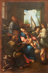 Fototapete - ARCO, ITALY - JUNE 8, 2018: The painting of Holy Family in the church Chiesa Collegiata dell'Assunta by unknown artist.