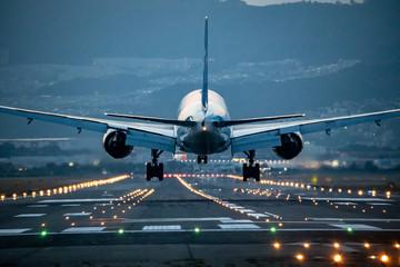 Poster Avion à Moteur 大阪空港に着陸する飛行機