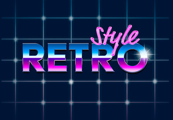 Retro Digital 80's Style Text Effect