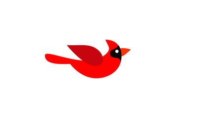 set of cardinal bird red logo icon designs vector illustration