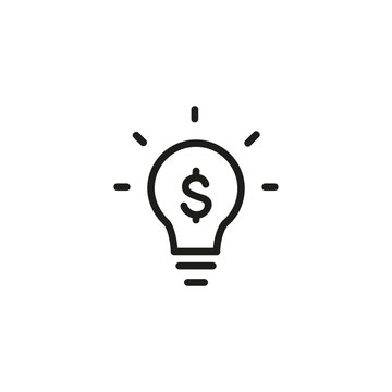 Creative value line icon. Financial project, profitable idea, energy saving. Creative concept. Vector illustration can be used for topics like business, finance, energy