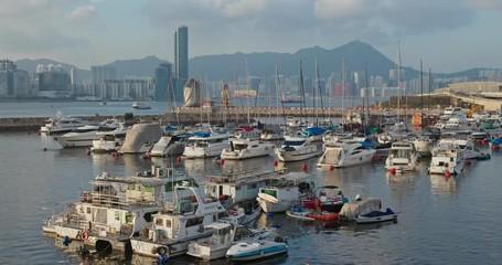 Wall Mural - Hong Kong harbor