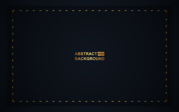 Abstract luxury background with dark blue overlap layers a combination with golden line decoration texture. Elegant and premium concept vector design for use element card, cover, banner, invitation