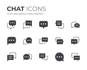 Chat Bubble Icons Set