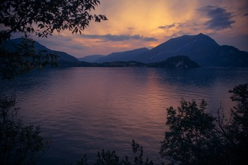 Fotomurales - Bellagio Italy Lake Como Sunset
