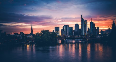Photo Stands Shanghai Frankfurt am Main Scenic Sunset