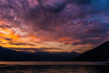 Wall Mural - Scenic Lake Como Sunset