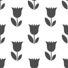 Bellflowers flower seamless pattern.