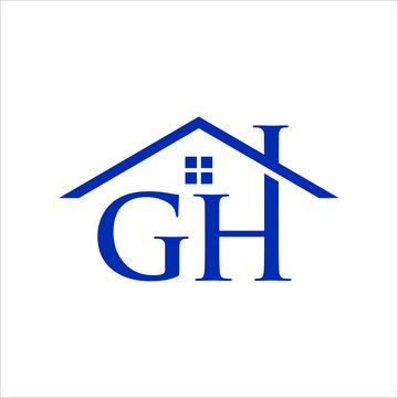 Letter G and H Vector Logo. Home Icon and Symbol. Eps 10.